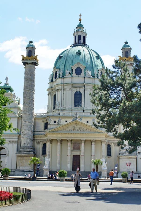Karlskirche a Vienna, Austria fotografia stock