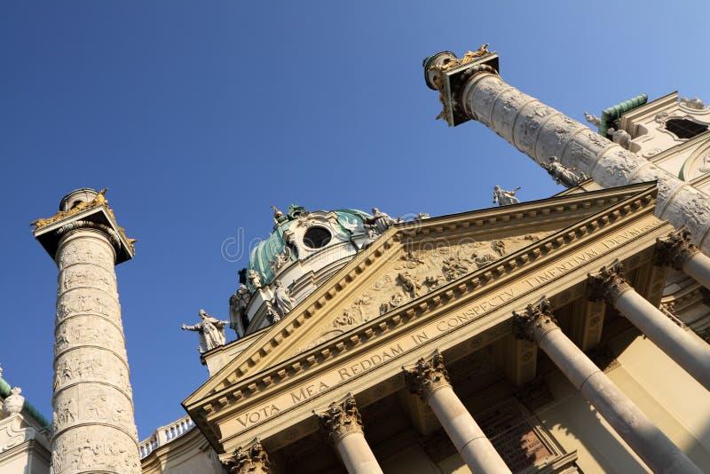 Karlskirche in Wenen stock fotografie