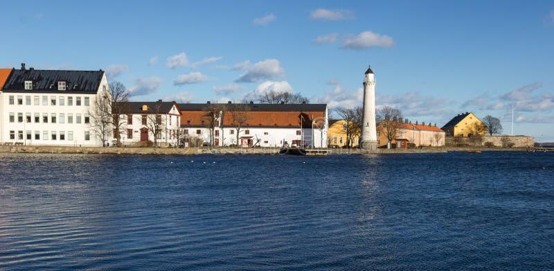 Karlskrona - vuurtoren stock afbeeldingen