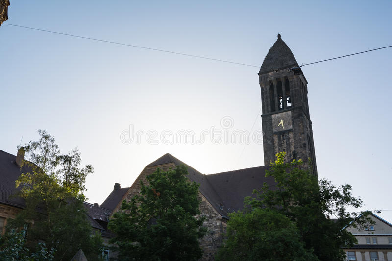 Karlsruhe Luther Church Cathedral Christian Architecture Exterio stock afbeeldingen