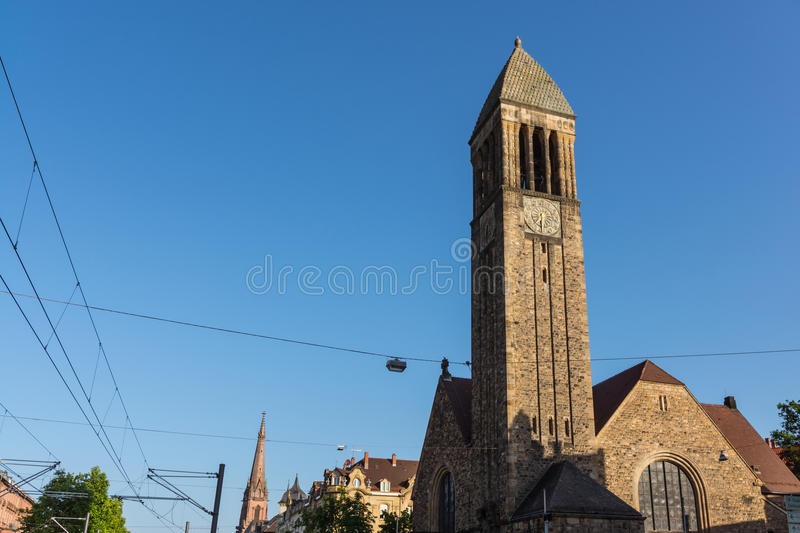 Karlsruhe Luther Church Cathedral Christian Architecture Exterio stock foto