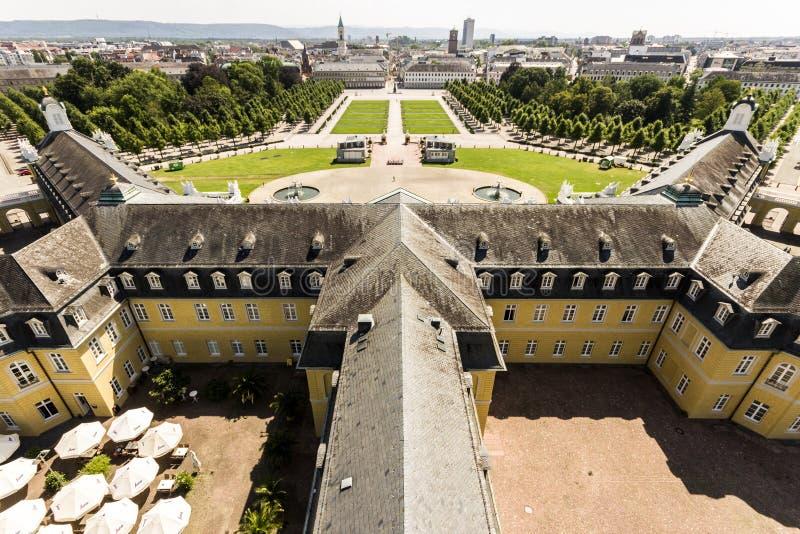 Karlsruhe-Palast, Deutschland lizenzfreies stockfoto