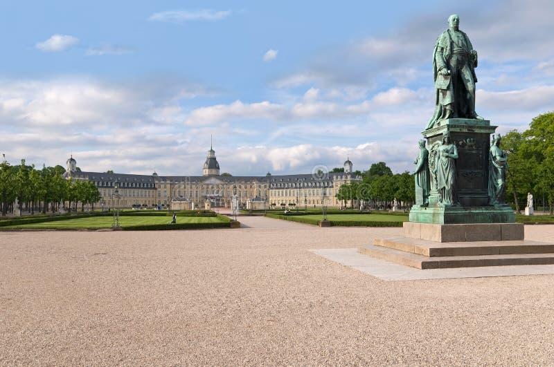 Karlsruhe-Schloss stockbild