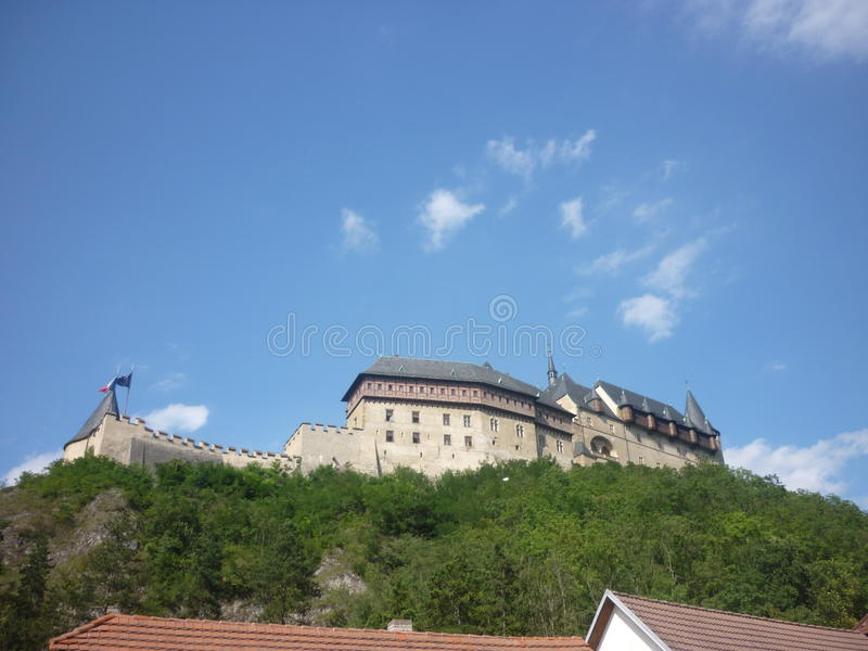 Karlstejn castle stock photography
