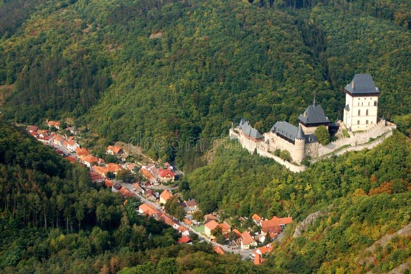 karlstejn grodowa czeska republika obrazy royalty free