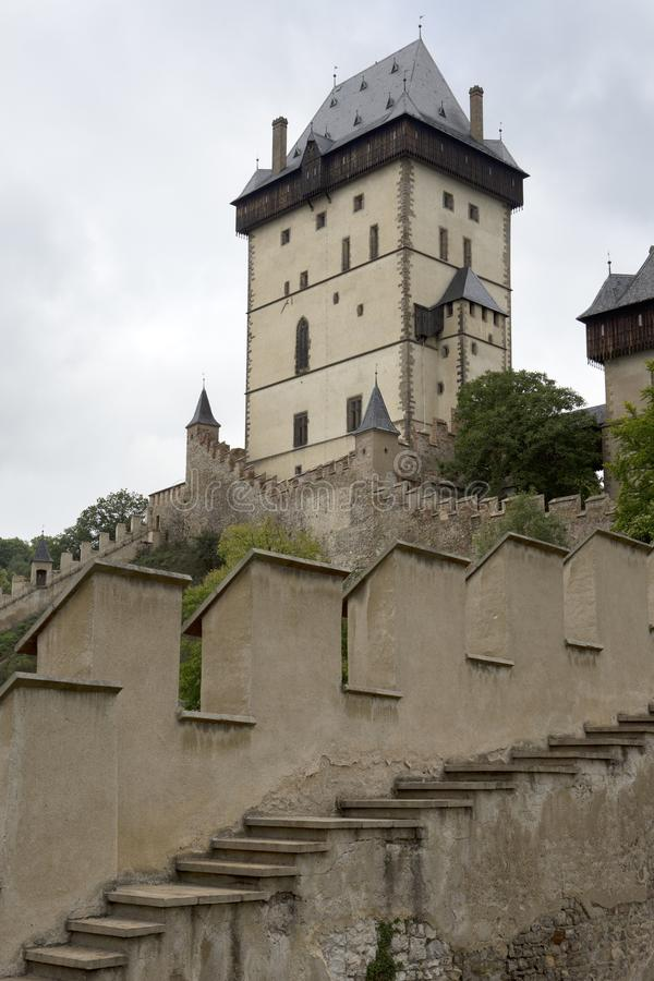 Karlstejn medieval Castle. Bohemia, Czech Republic.  stock photos