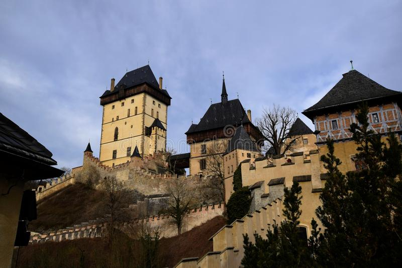 Karlstejn Schloss, Tschechische Republik stockfoto