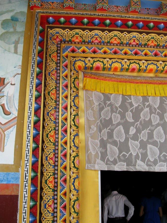 Karma Tharjay Chokhorling Tibetan Monastery Bodh Gaya India imagens de stock royalty free