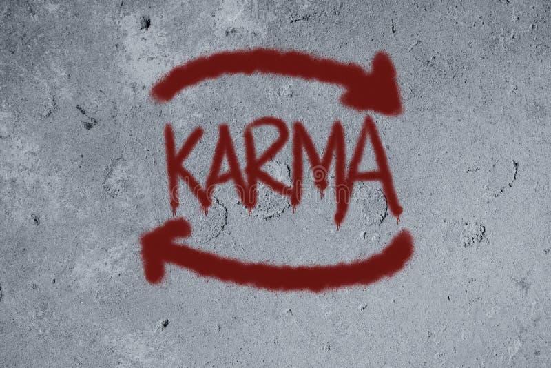 Karmagraffiti auf der Wand lizenzfreies stockbild