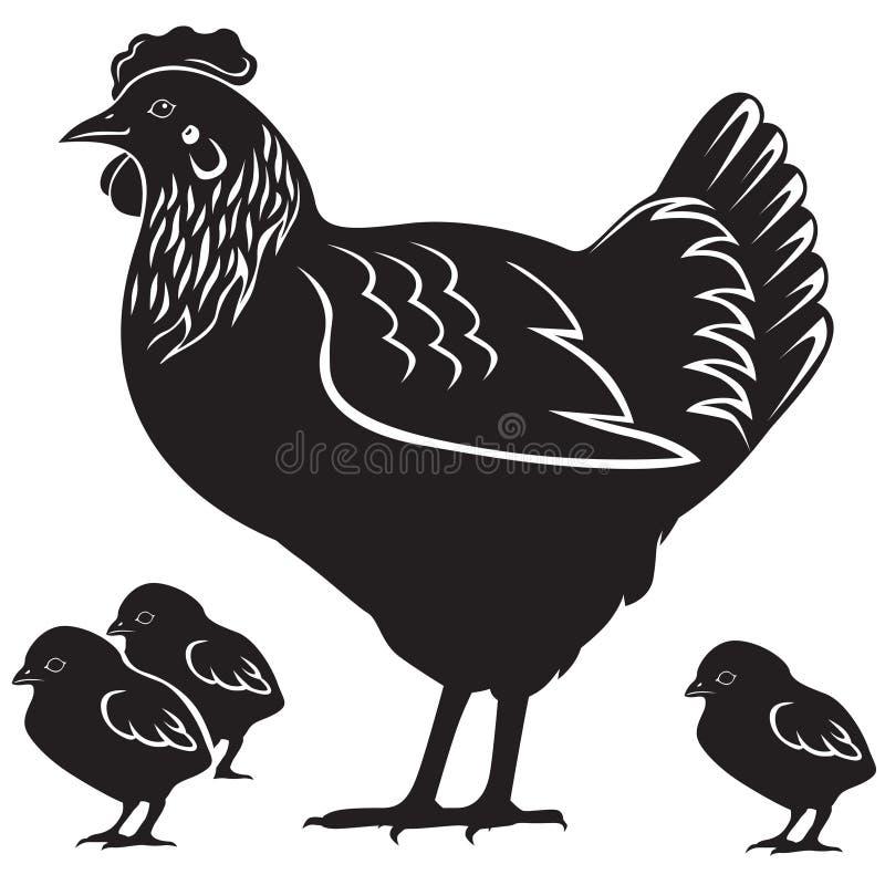 Download Karmazynka z kurczątkami ilustracja wektor. Obraz złożonej z rodzina - 33101011