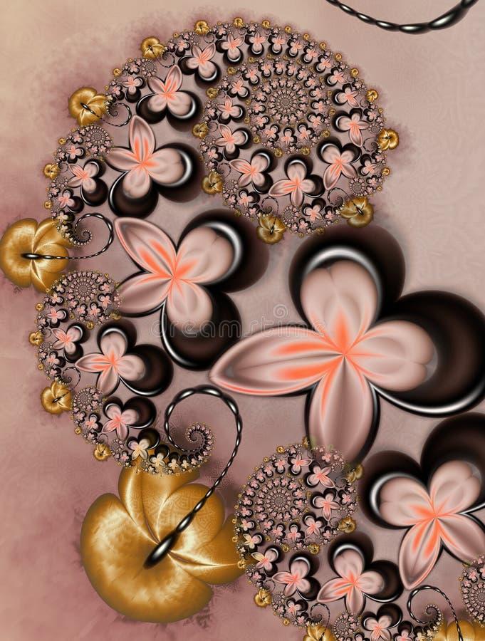 karmelu czekolady kwiaty ilustracja wektor