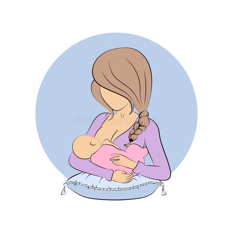 Karmiący mama wektor ilustracja wektor