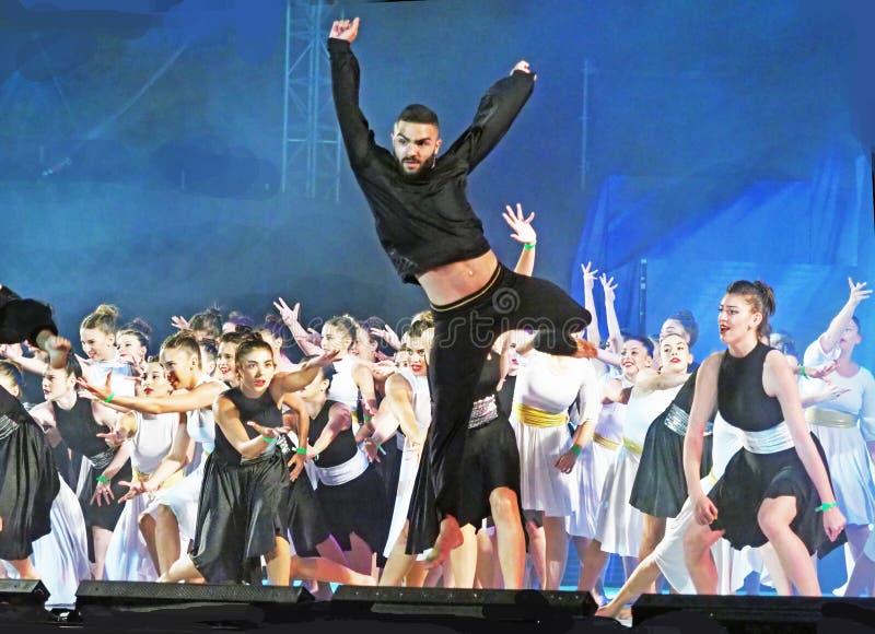 Karmiel dansfestival 2019 royaltyfria foton