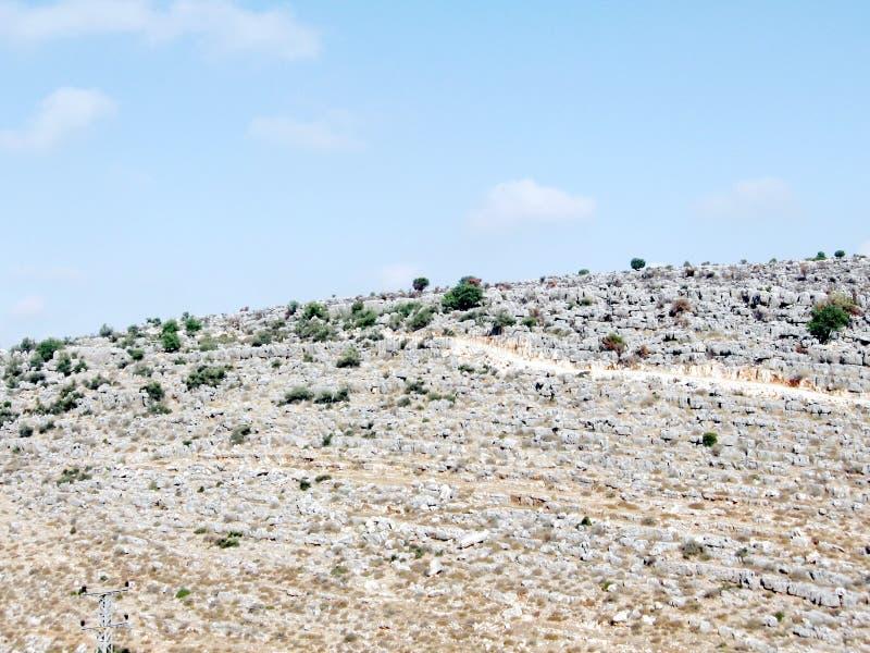 Karmiel kamienie na wzgórzu 2008 zdjęcie royalty free