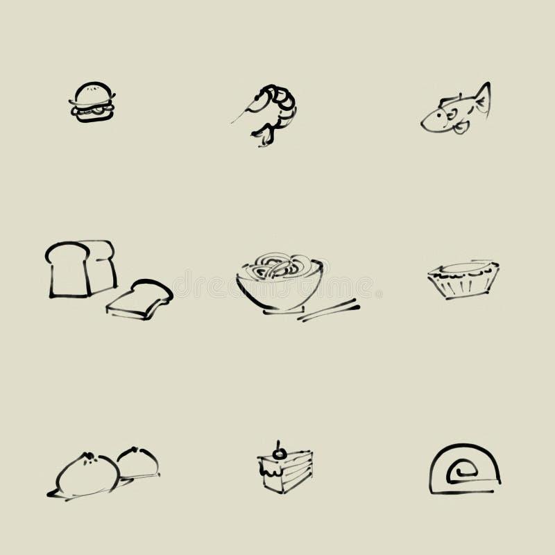 Karmowa chińczyka muśnięcia ikona royalty ilustracja