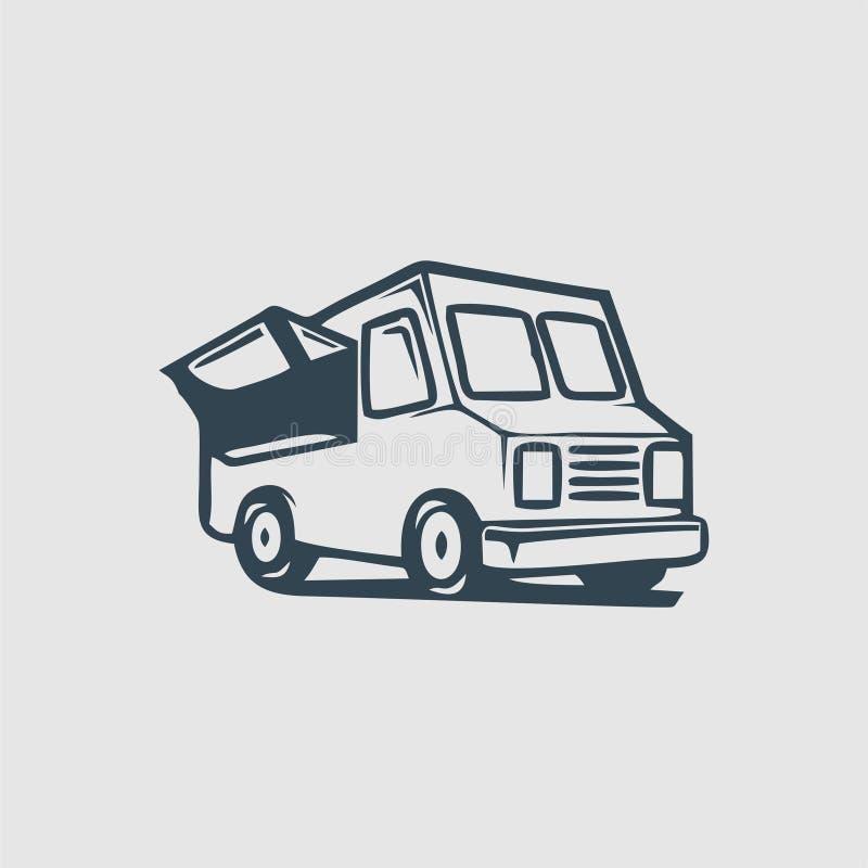 Karmowa ciężarowa logo inspiracja royalty ilustracja