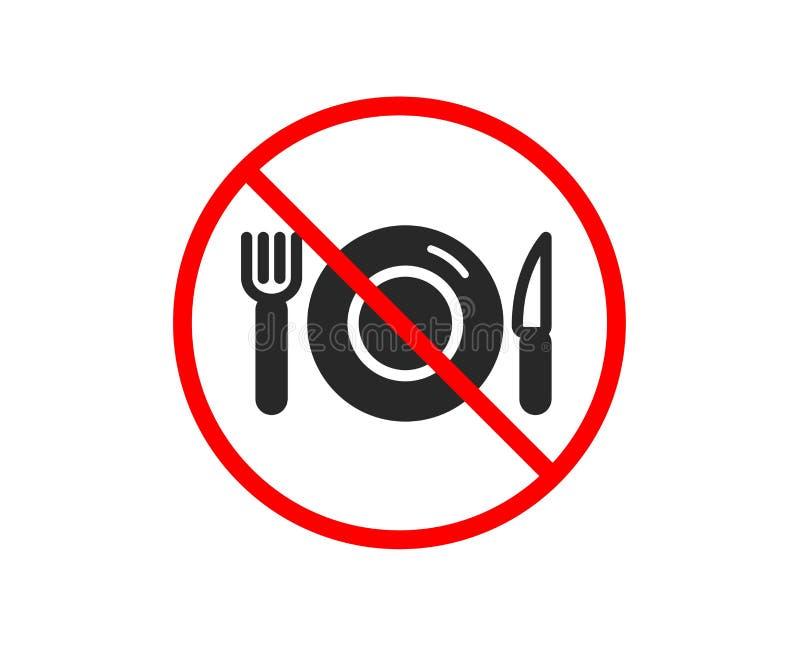 Karmowa ikona Restauracja znak wektor royalty ilustracja