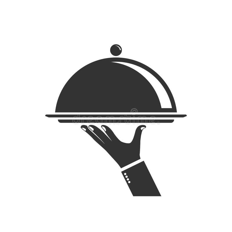 Karmowa porci taca ilustracji