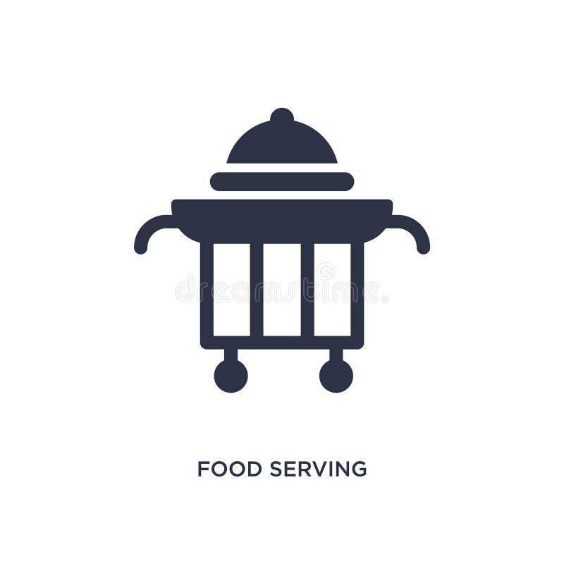 karmowa porcji ikona na białym tle Prosta element ilustracja od fasta food pojęcia royalty ilustracja