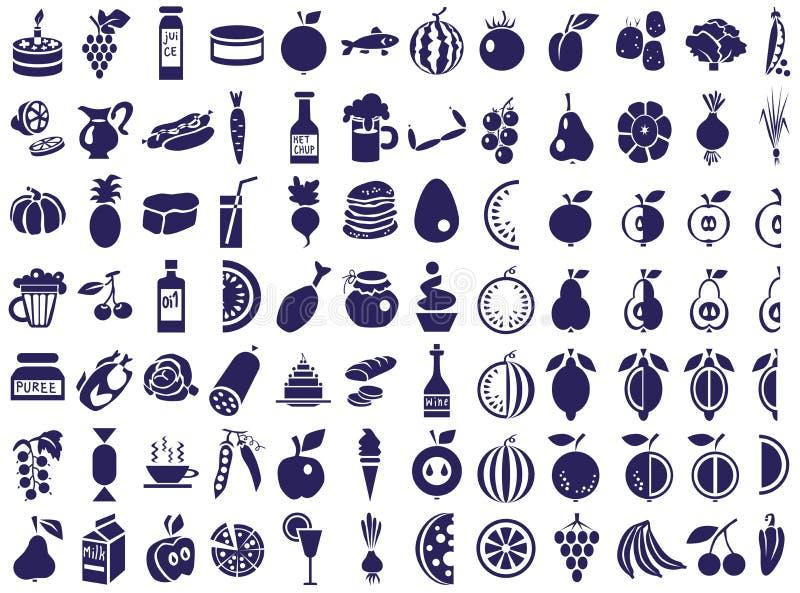 Karmowe ikony na bielu royalty ilustracja