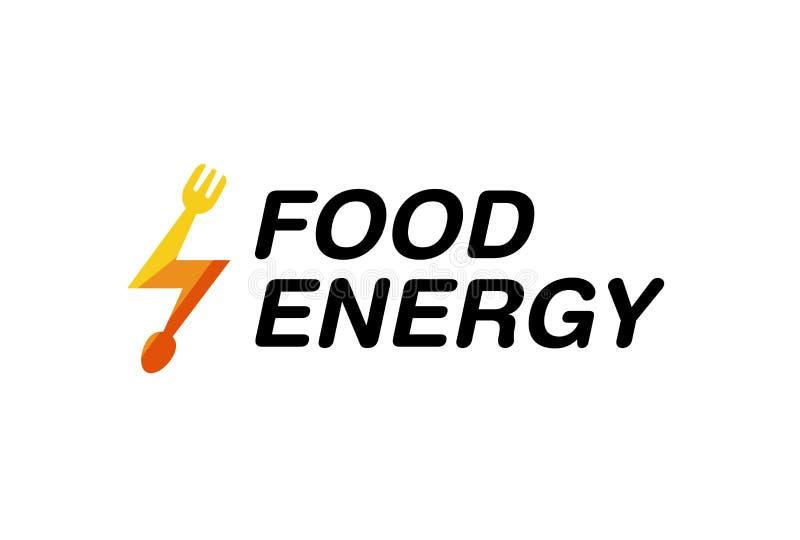 Karmowego Energetycznego rozwidlenia symbolu loga Łyżkowy projekt royalty ilustracja