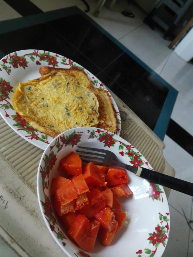 Karmowej żywotności zdrowie soku śniadaniowa pomarańcze obraz stock