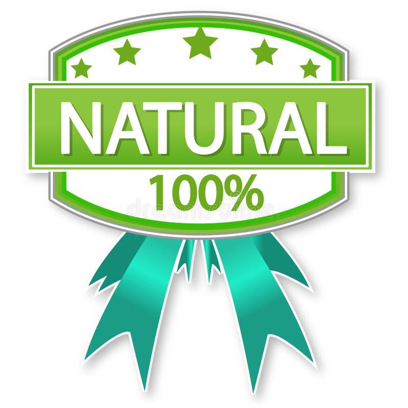karmowej etykietki naturalny produkt royalty ilustracja