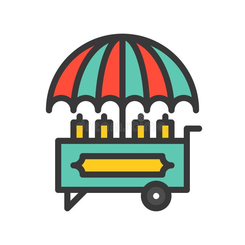 Karmowej fury wektorowa ikona, wypełniający konturu stylu editable uderzenie ilustracja wektor
