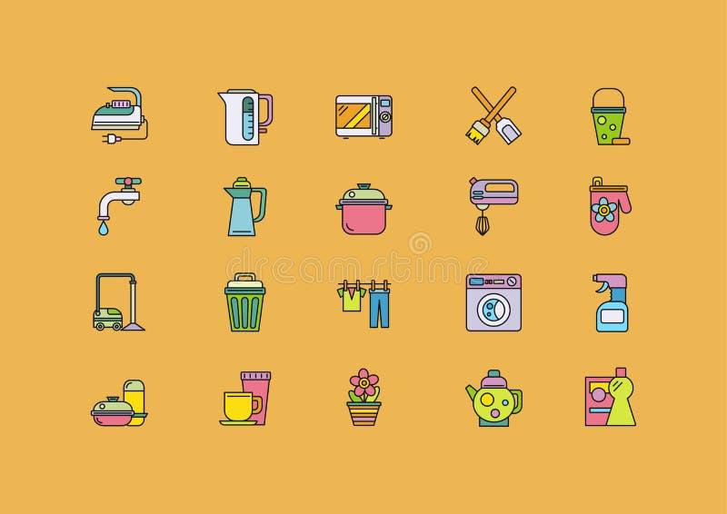 Karmowi kucharstw narzędzia, Domowy urządzenie ilustracji