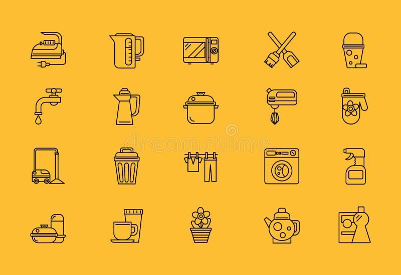 Karmowi kucharstw narzędzia, Domowy urządzenie royalty ilustracja