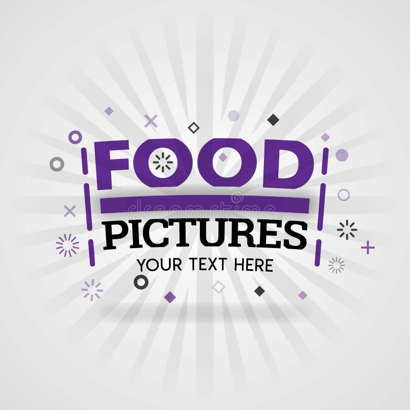 Karmowi obrazki dla okładkowych fastów food przepisów projektują dla domowego kucharstwa przepisów ilustracji