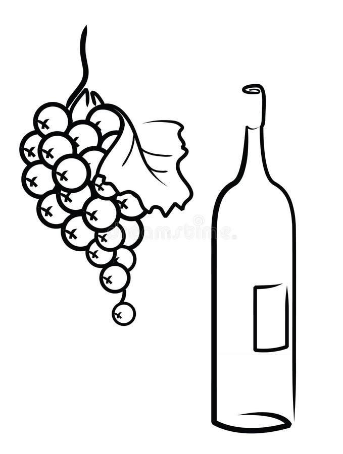 karmowi winogrona royalty ilustracja