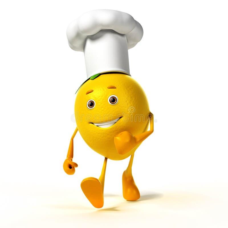 Download Karmowy Charakter - Cytryna Ilustracji - Ilustracja złożonej z yellow, cytrusy: 28963313