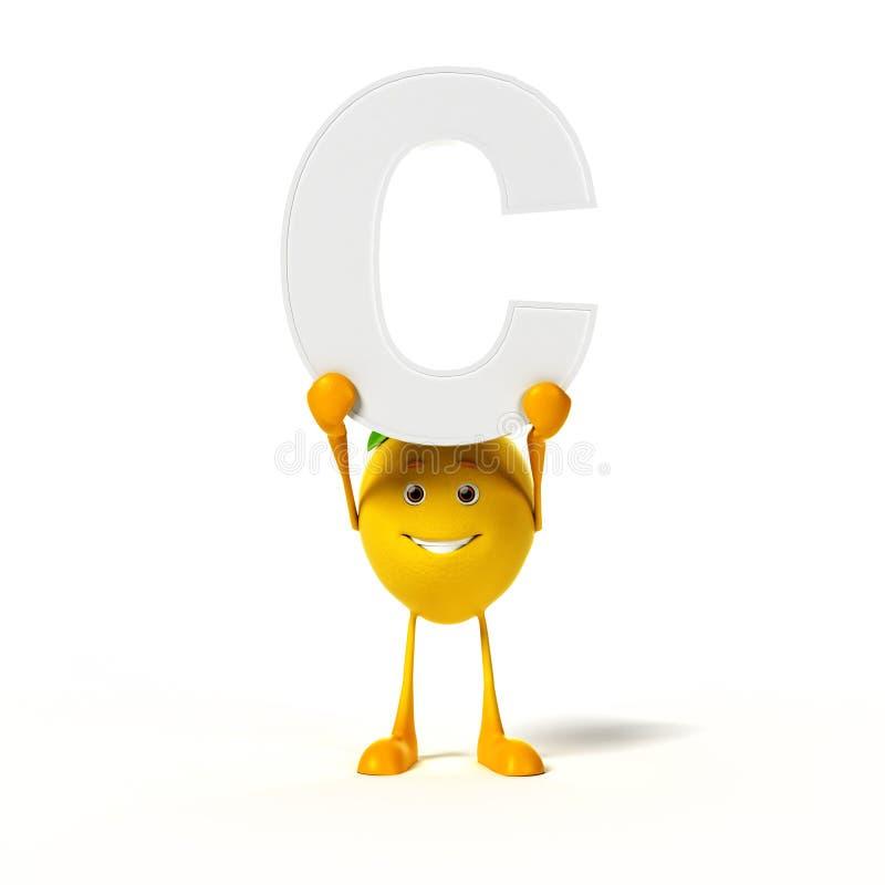 Download Karmowy Charakter - Cytryna Ilustracji - Ilustracja złożonej z vitiate, żniwo: 28963318