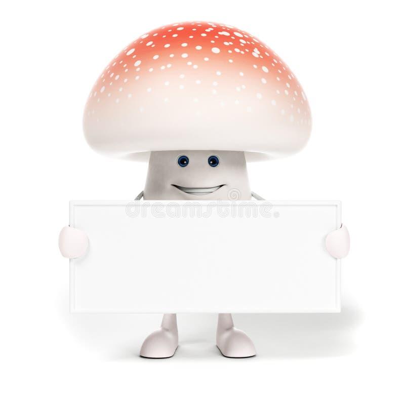 Download Karmowy Charakter - Pieczarka Ilustracji - Ilustracja złożonej z brąz, rysujący: 28962825