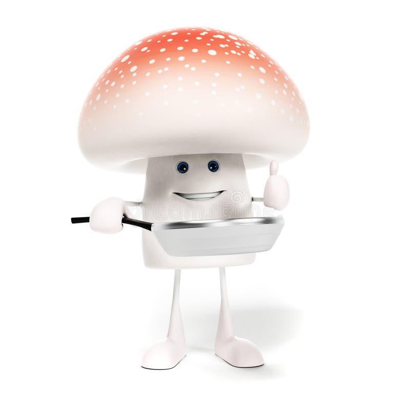 Download Karmowy Charakter - Pieczarka Ilustracji - Ilustracja złożonej z pieczarka, warzywo: 28962860