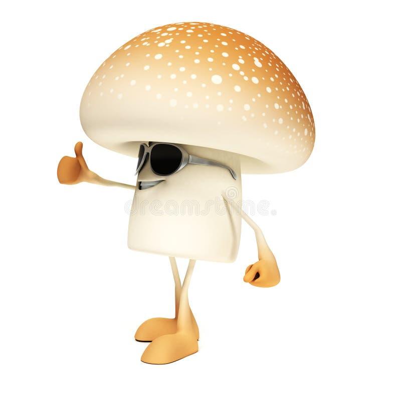 Download Karmowy Charakter - Pieczarka Ilustracji - Ilustracja złożonej z śmieszny, rysujący: 28963021
