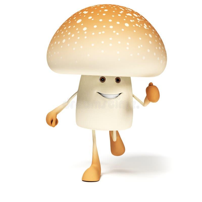 Download Karmowy Charakter - Pieczarka Ilustracji - Ilustracja złożonej z uśmiech, jadowity: 28963074
