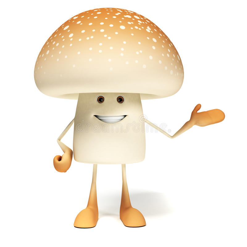 Download Karmowy Charakter - Pieczarka Ilustracji - Ilustracja złożonej z brąz, grzyb: 28963080