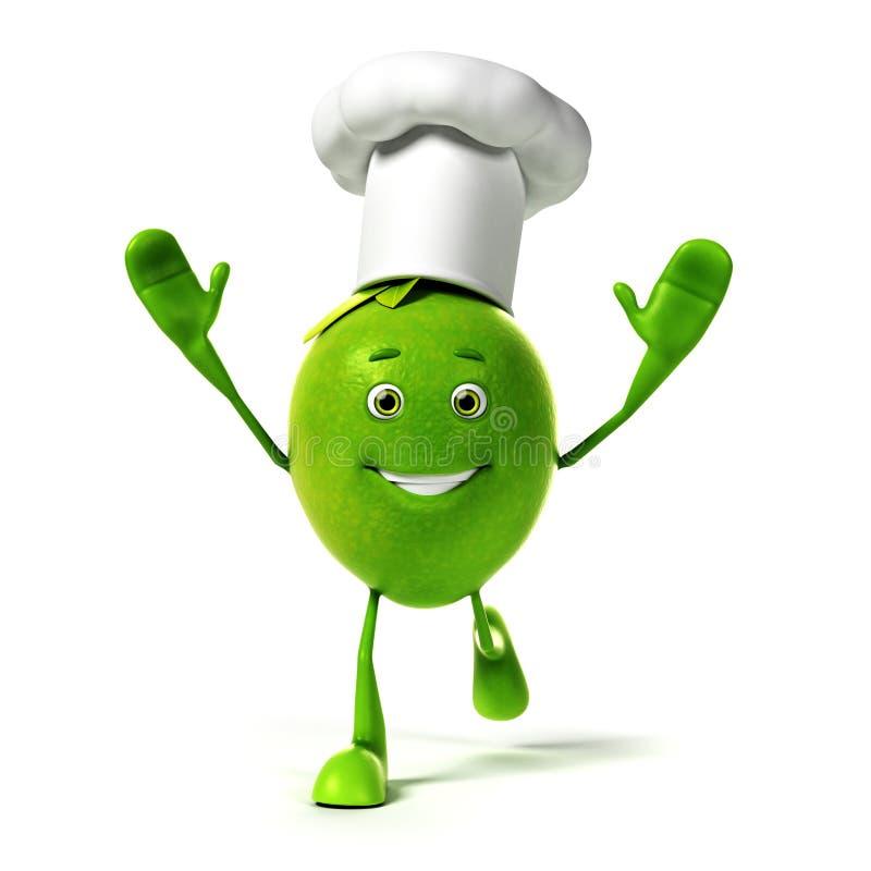 Download Karmowy charakter - wapno ilustracji. Ilustracja złożonej z jedzenie - 28963217