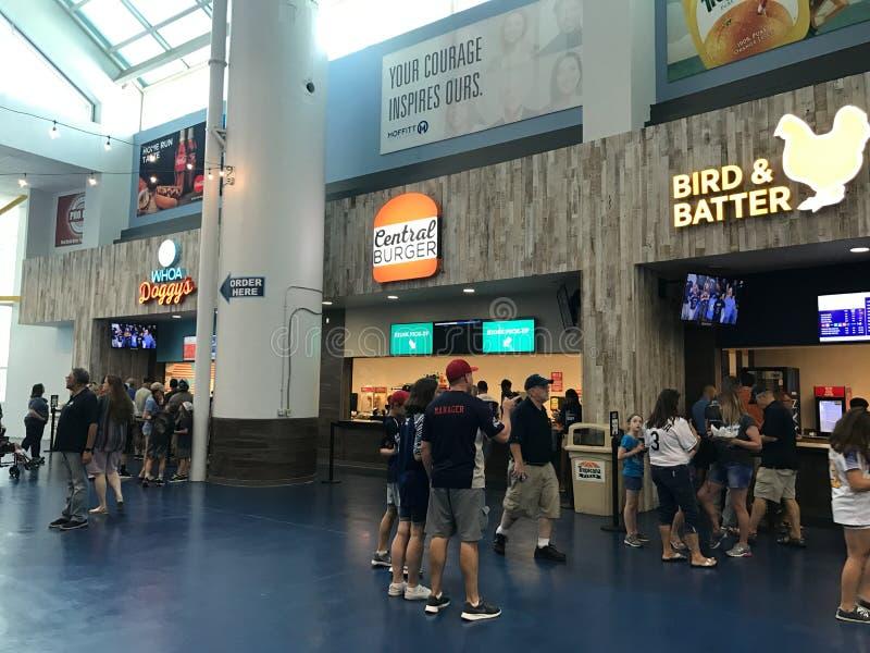 Karmowy Concourse przy Tropicana polem, St Petersburg, Floryda zdjęcia royalty free