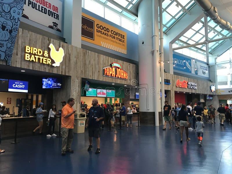 Karmowy Concourse przy Tropicana polem, St Petersburg, Floryda zdjęcie royalty free