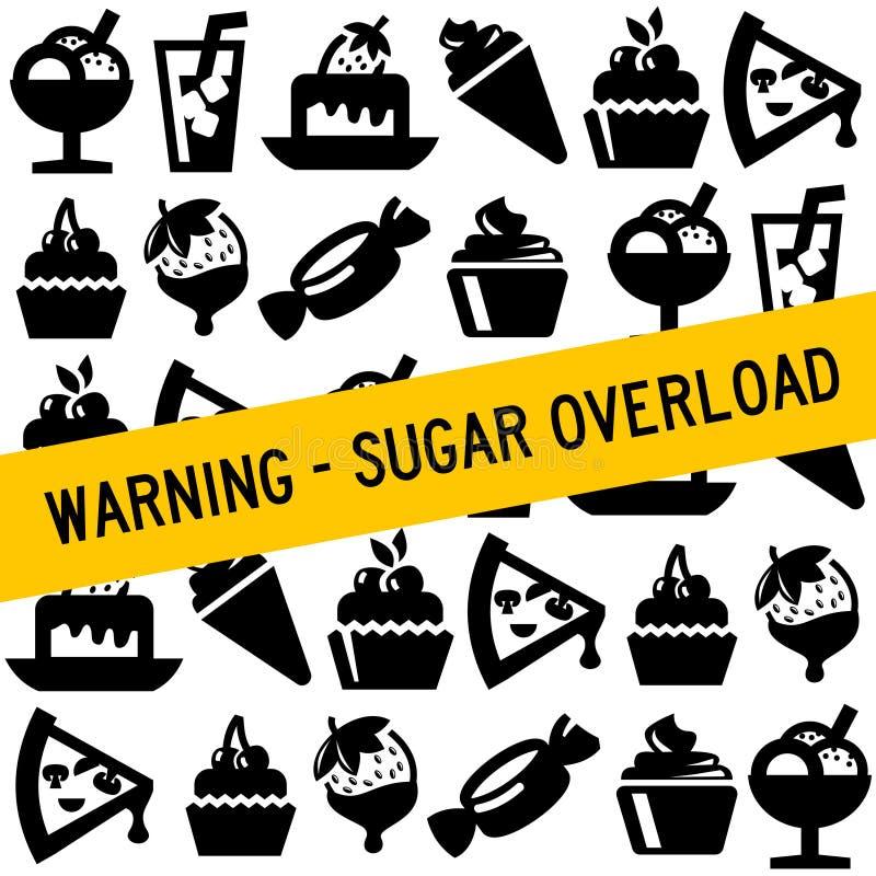 Karmowy cukier royalty ilustracja