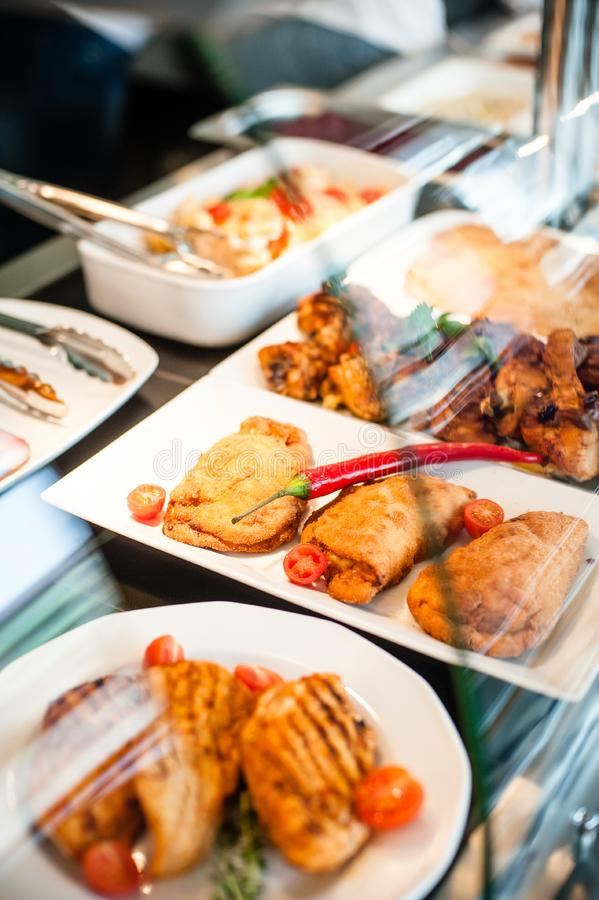 Karmowy ekspozycja lunchu czas fotografia royalty free