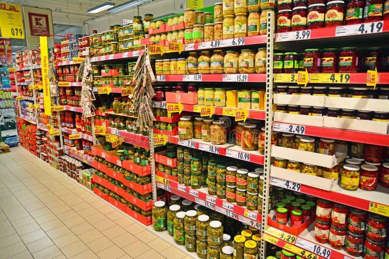 Karmowy hypermarket obrazy royalty free