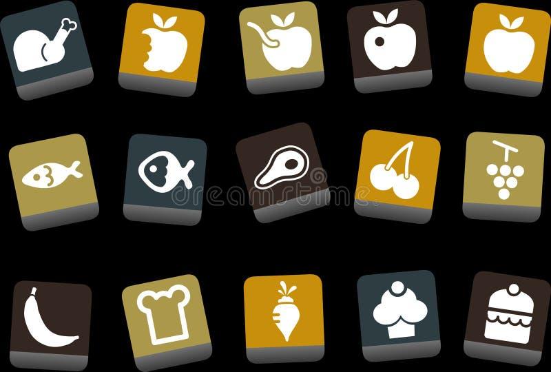 karmowy ikona set ilustracji