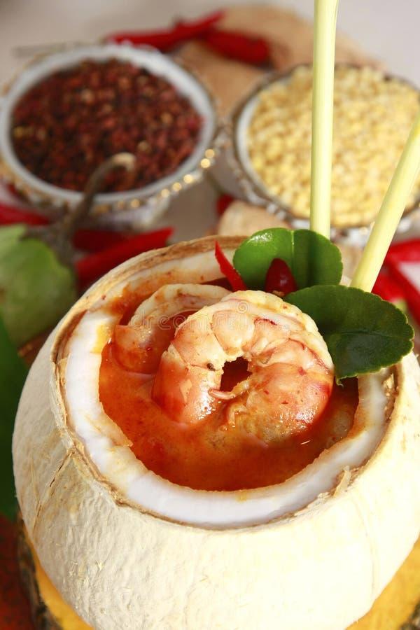 karmowy krewetkowy zupny tajlandzki obrazy stock