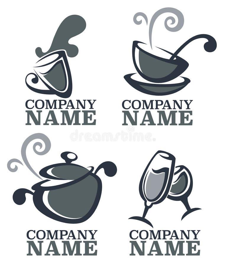 Karmowy logo royalty ilustracja