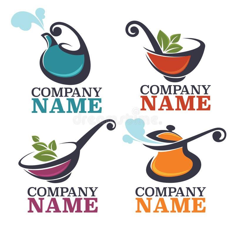 Karmowy logo ilustracja wektor