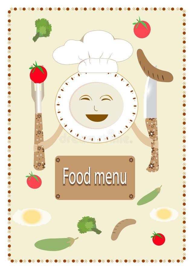 Download Karmowy menu ilustracji. Ilustracja złożonej z tło, ikona - 53781808